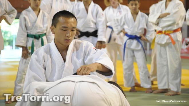 Kintaro Yamamoto durante il Judo Summer Camp Sarnano 2013