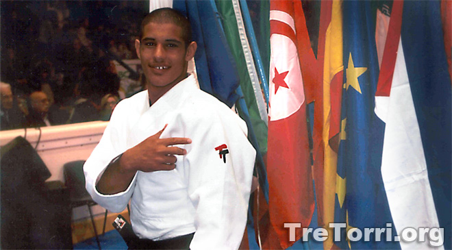 Asley Gonzalez in 2007 while wearing our Judogi Tre Torri