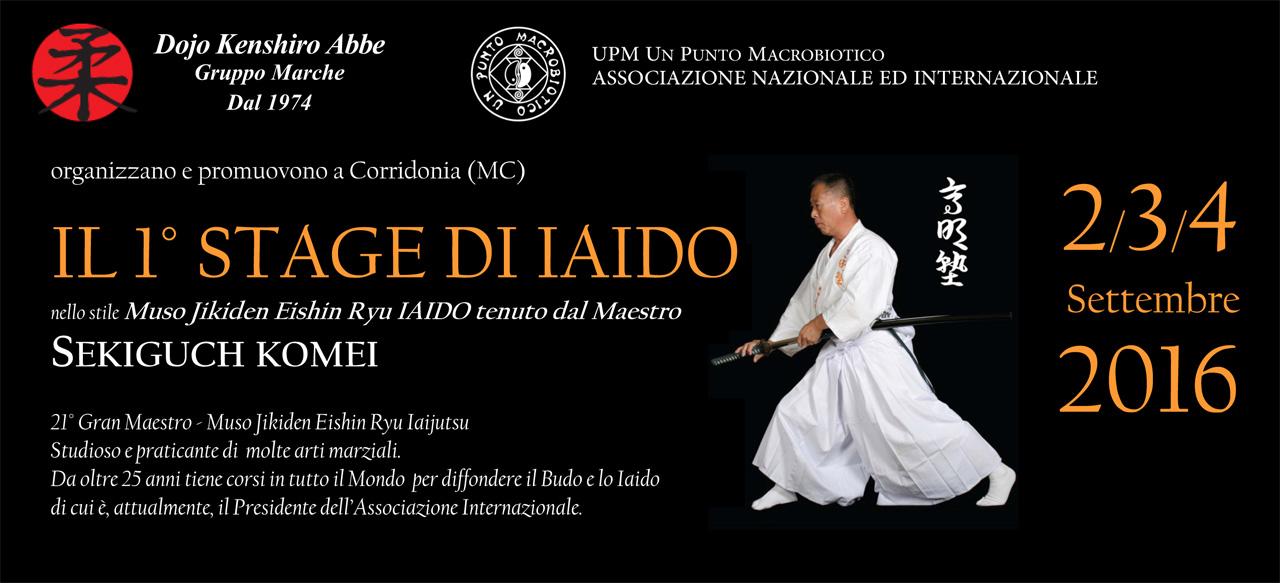 Stage di Iaido – 2-3-4 settembre 2016