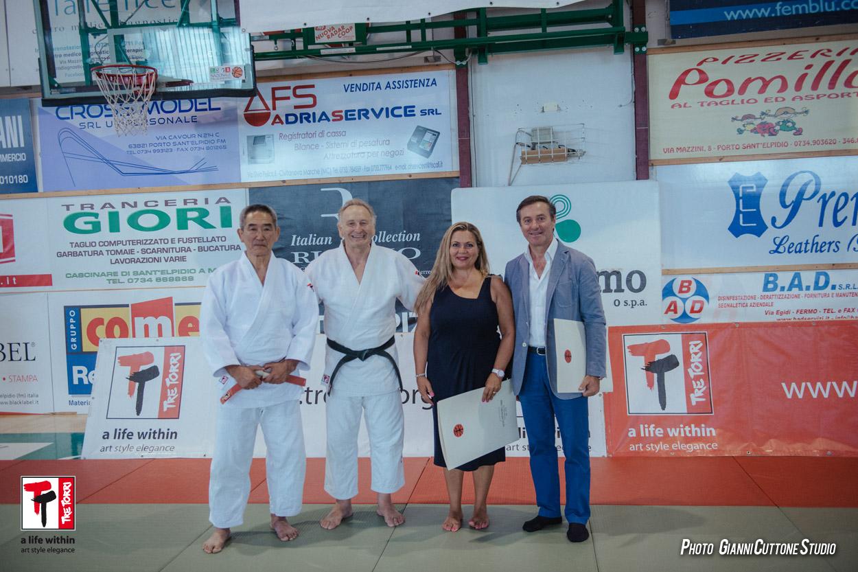 Paolo Cartechini sindaco di Corridonia e Milena Sebastiani assessore allo Sport di Porto Sant'Elpidio
