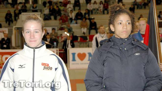 Marti Malloy and Miryam Roper during the International Judo Tournament Tre Torri 2006